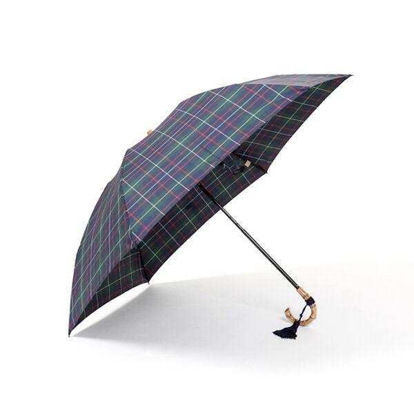 レディース折畳み傘 チェック GREEN