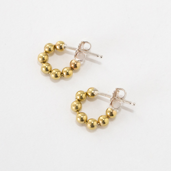 ピアス STUDEBAKERS BALL CHAIN HOOPS POLISHED(BRASS)