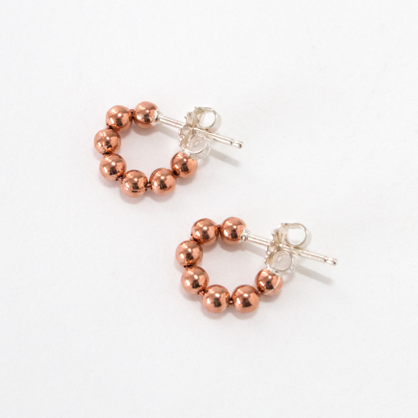 ピアス STUDEBAKERS BALL CHAIN HOOPS POLISHED(COPPER)