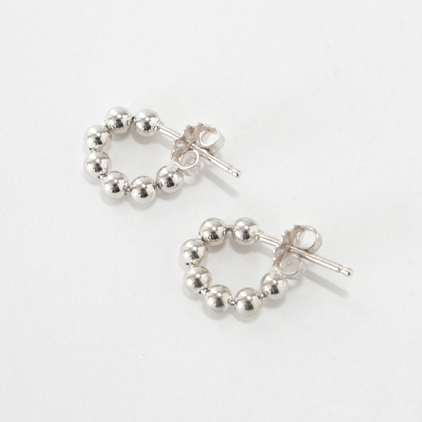 ピアス STUDEBAKERS BALL CHAIN HOOPS POLISHED(SILVER)