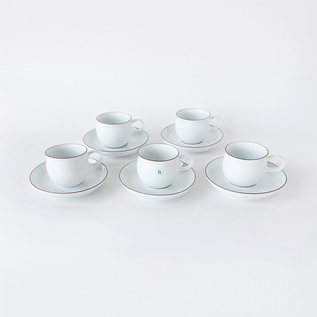 G-type coffee cup and saucer 5 customer set