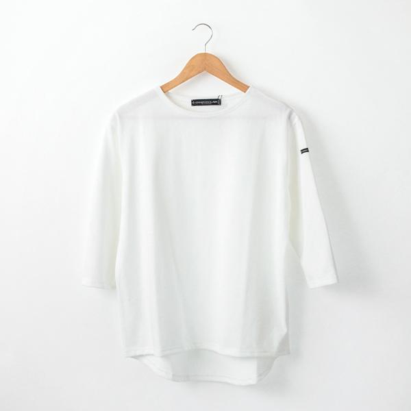 七分袖カットソー(BLANC/NOIR)