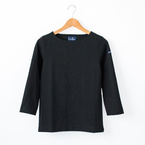 Le minor 厚手 七分袖 カットソー(BLACK)
