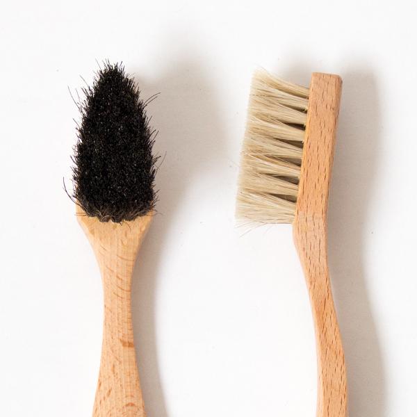 8点セット 細部用汚れ落し磨き用ブラシ(馬毛) アップ