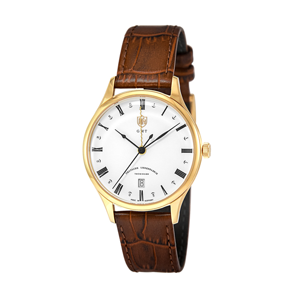 DUFA 腕時計 WEIMAR GMT WHITE BROWN