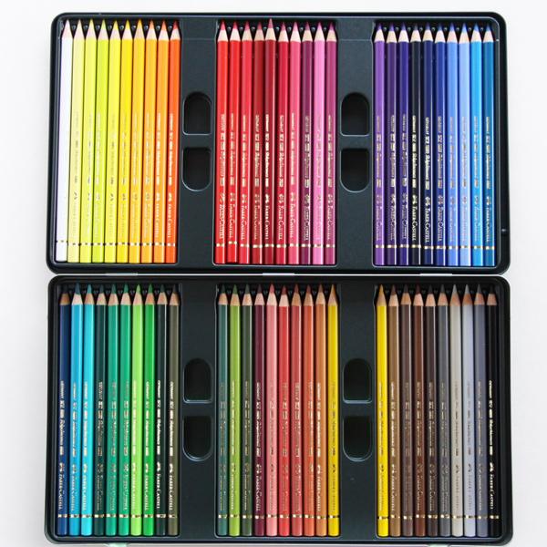 ポリクロモス油性色鉛筆(缶入 60色セット)