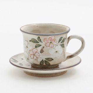 珈琲碗皿 着彩桜