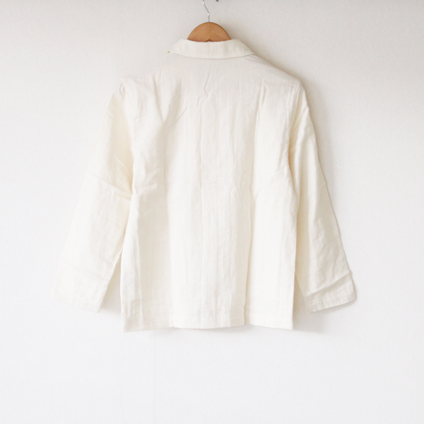 ダブルガーゼパジャマ ホワイト(上着)