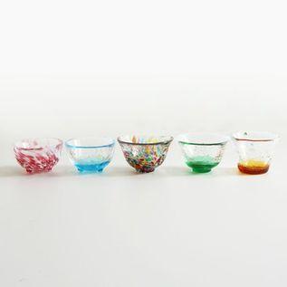 FIVE SETS OF MINI GLASSES
