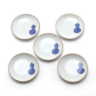 KUTANI TINY PLATES GOURD SET OF FIVE