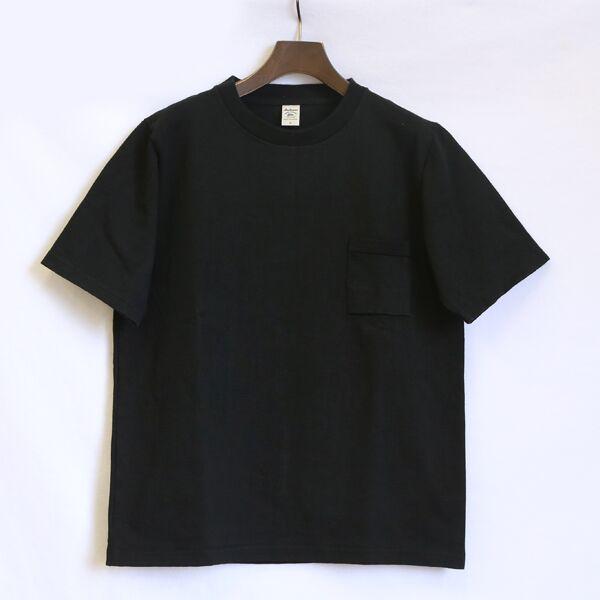 ユニセックス DOTSUME POCKET T-SHIRT BLACK