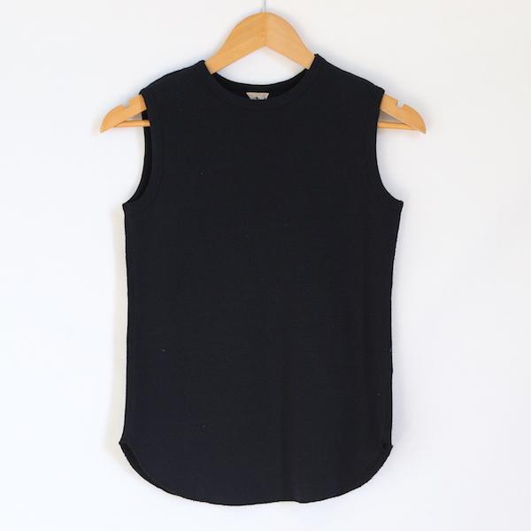 RITA ノースリーブシャツ(BLACK NAVY)