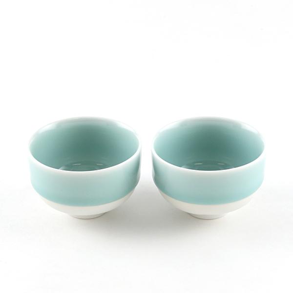煎茶碗 2個セット(鍋島青磁)