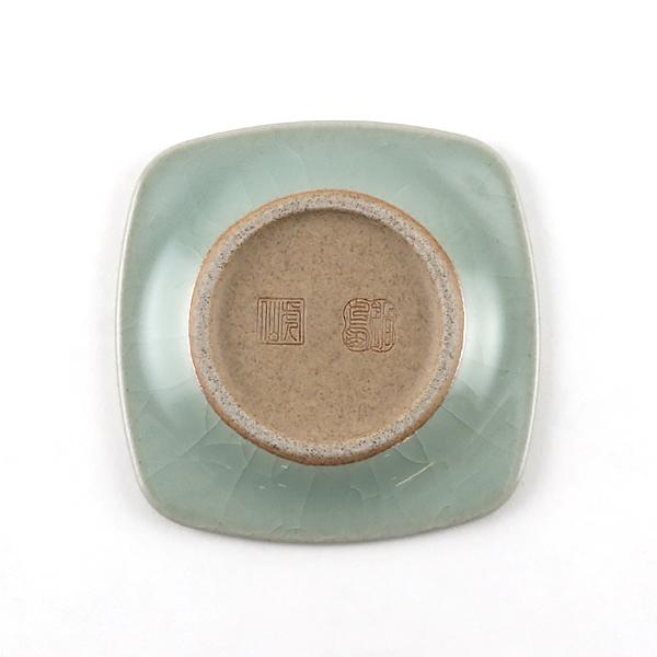 茶托 2個セット(鍋島青瓷貫入)