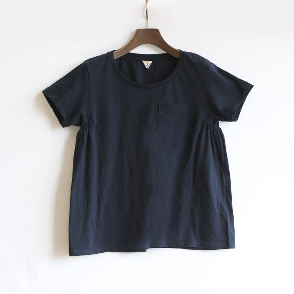 ANNIE ラウンドネックTシャツ(DEEP NAVY)