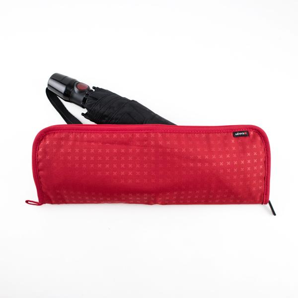 全長29cmまでの折り畳み傘を収納できるカバー(TRUSTY RED)
