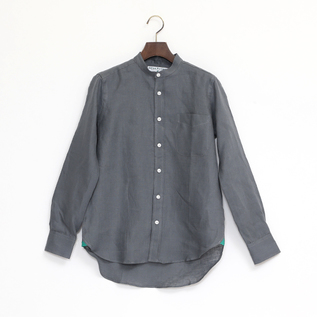 Linen Long Sleeve shirts band collared