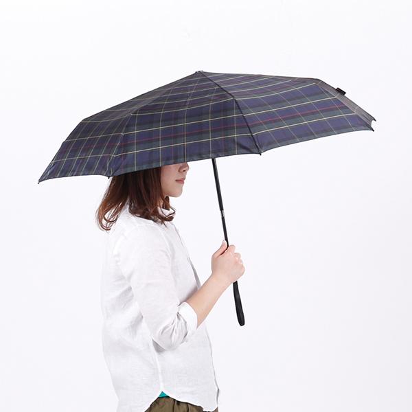 ボタンを押すだけで、瞬時に柄が伸びて傘が開きます