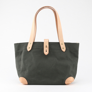 CANVAS TOTE BAG WITH BUTTON