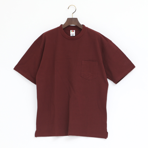 FRUIT HEAVY WEIGHT POCKET TEE(BURGUNDY)