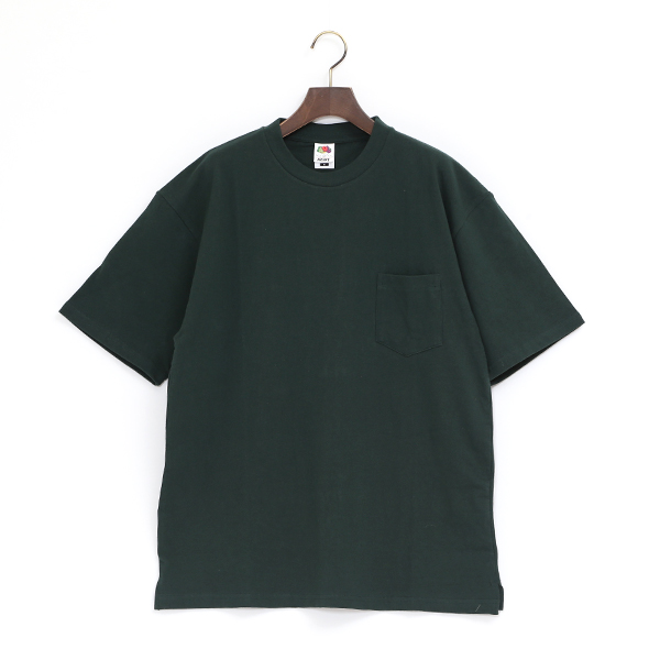 FRUIT HEAVY WEIGHT POCKET TEE(DARKGREEN)