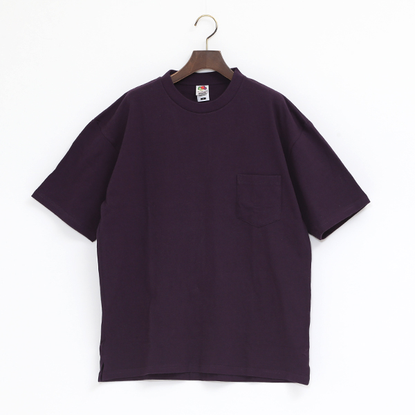 FRUIT HEAVY WEIGHT POCKET TEE(DARKPURPLE)