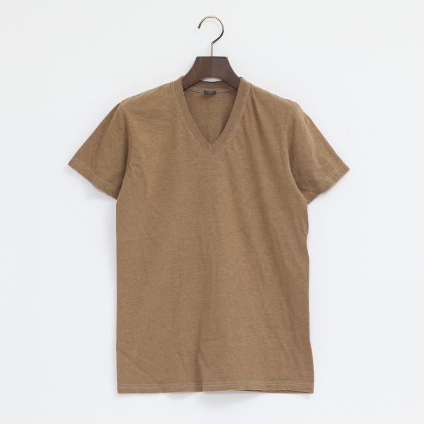 4.6oz Vネック ショートスリーブ Tシャツ(CAMEL)