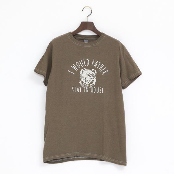 HOUSE 4.6oz CREW Tシャツ(MILITARY GREEN)