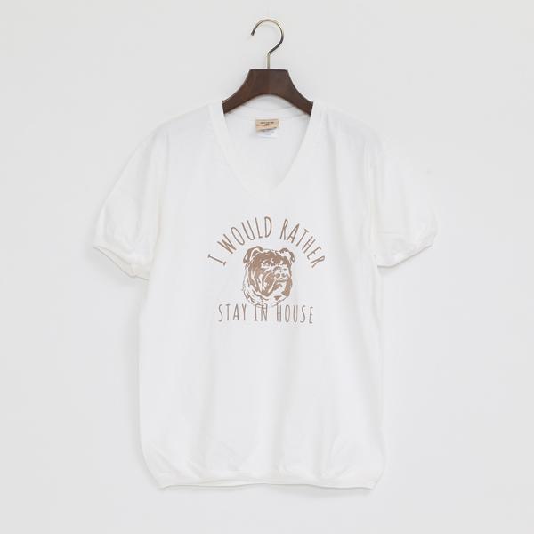 HOUSE 7.2oz V Tシャツ(WHITE)