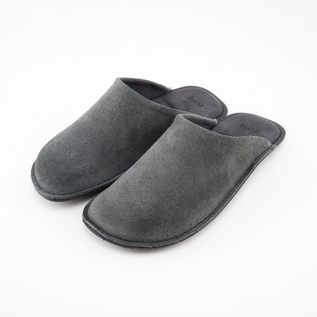 LEATHER ROOM SHOES GREY