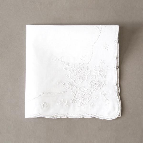 スワトー刺繍ハンカチ(0476)