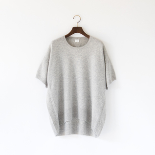 PURE CASHMERE HALFSLEEVE PULLOVER TOP