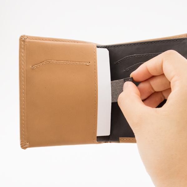 プルタブ付きカードポケット(TAN)