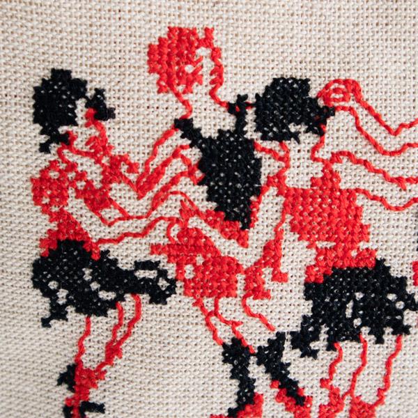 可愛らしい刺繍