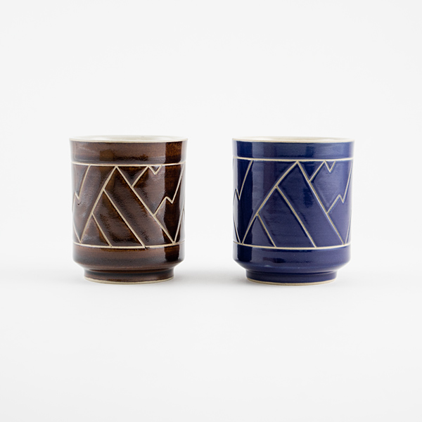 湯呑セット カンナイ(BLUE&BROWN)