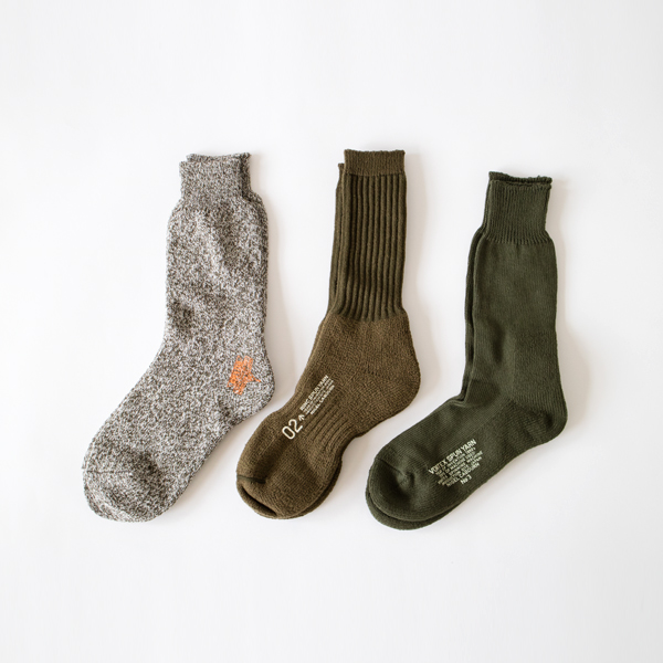 メンズ 3PACK ARMY SOCKS(GREEN)