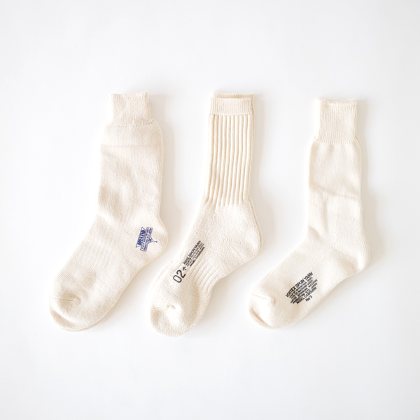 メンズ 3PACK ARMY SOCKS(IVORY)
