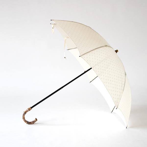 レディース折りたたみ日傘 ドット織(IVORY)