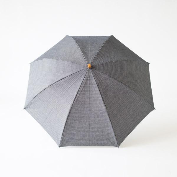 レディース晴雨兼用折りたたみ傘 綿麻ヘリンボーン(NAVY)