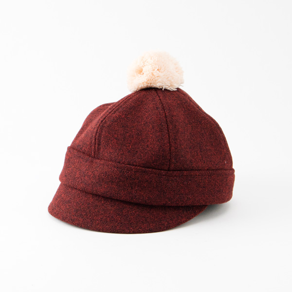 ASMAT HAT(BURGUNDY)