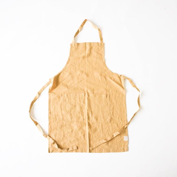 リネンエプロン Regular apron Plain(HONEY)