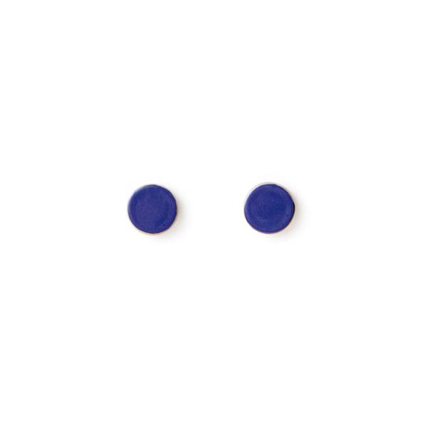 別注 PASTILLE ピアス(INDIGO BLUE AND CREAM COFFEE)