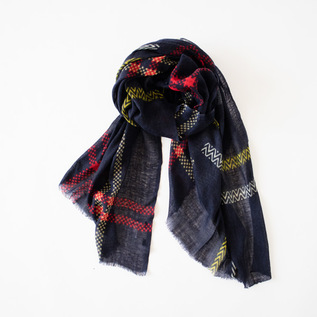 WOOL PATCHWORK STOLE SQUARE
