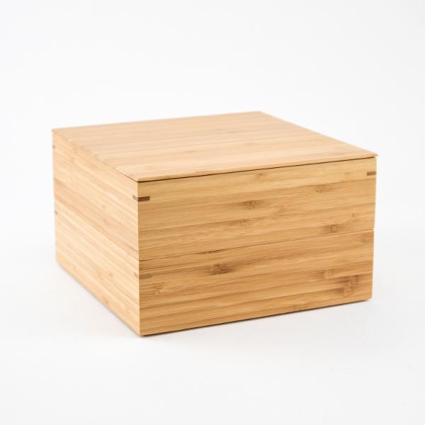 6.5寸 二段重箱(十字仕切り付き)