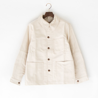 UNISEX TRADITIONAL WORKER JACKET  BEIGE
