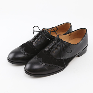 WINGTIP SHOES BETTA BLACK