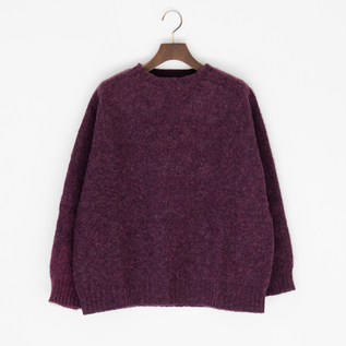 SHAGGY DROP SHOULDER SWEATER