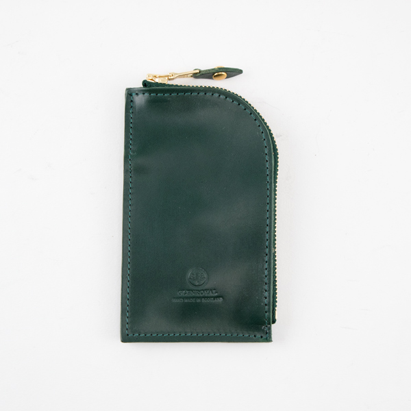 ZIPPED KEY CASE(BOTTLE GREEN)