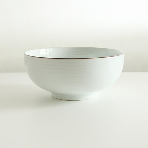 6寸浅めん丼(白磁)