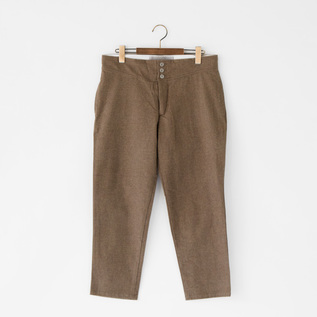 COTTON TWILL BRUSHED PANTS